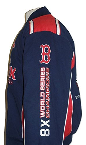 (G-III Sports Boston Red Sox Commemorative 8-Time World Series Championship Twill Jacket)