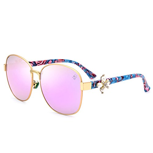 HEPIDEM Acetate Metal Sunglasses Women Famous Brand Designer Sexy Female Ladies 9212 (pink, - Styles Sunglasses Famous