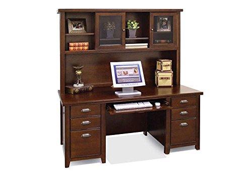 Tribeca Loft Cherry Executive Desk with Hutch Tribeca Loft Burnt Umber Cherry Dimensions: 68.25
