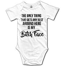 Organic Baby Onesies Unisex Bodysuits Baby Resting B Tch Face