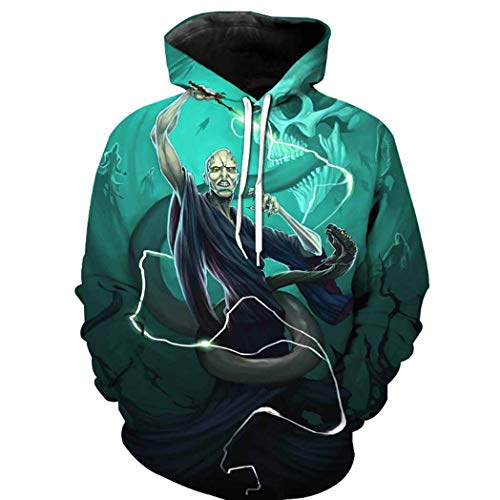 Harry Shops Halloween Holiday Lord Voldemort Costume Hoodie-Male-XXX-Large -
