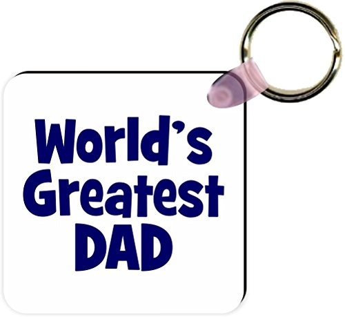 Rikki Knight Blue World's Greatest Dad Square Kc, White