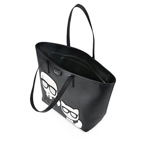 Karl Lagerfeld Borsa Shopping Donna 81KW3011 Pelle Nero