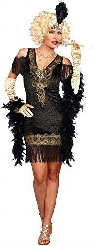 Dreamgirl Women's Swanky Flapper, Black/Gold L]()