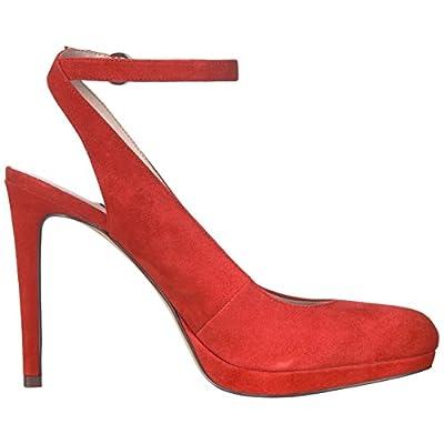 NINE WEST Women's QUIANIYA Suede Pump, red, 8.5 M US | Pumps