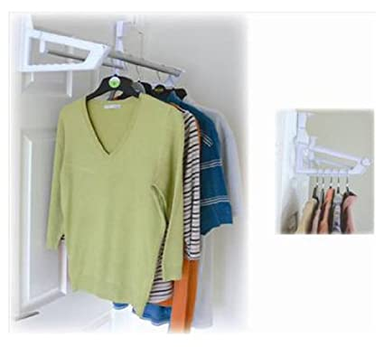 Overdoor Clothes Hanger Storage Rail Holder Rack Amazon