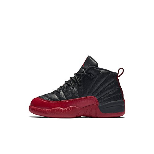 JORDAN 12 Retro Little Kids Style, Black/Varsity Red, 2 by Jordan