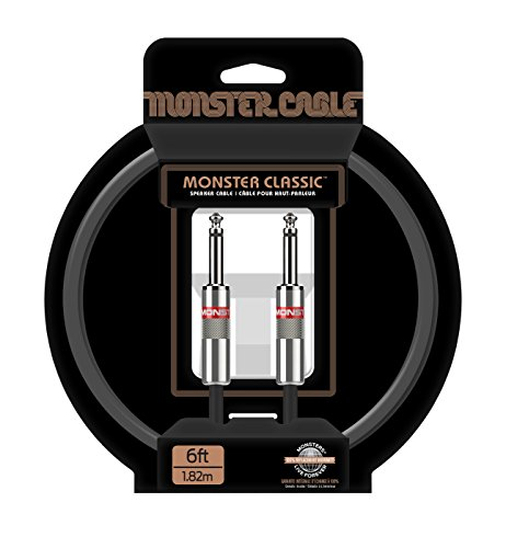 Monster Cable Classic 1/4 Inch Straight to Straight Speaker Cable 6 ft.
