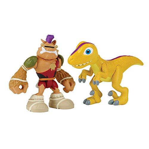 Teenage Mutant Ninja Turtles Pre-Cool Half Shell Heroes Dino Bebop and Raptor Figures