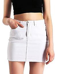 Womens Denim Jean Mini Skirt