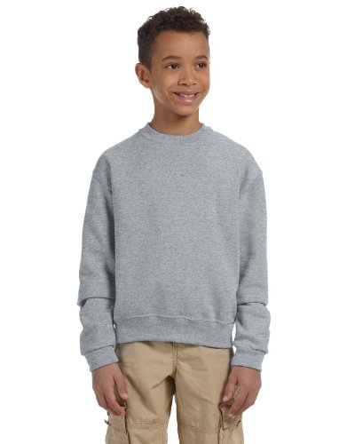 Jerzees 8 oz Youth Sweatshirt (562B) Available in 16 Colors Medium Oxford