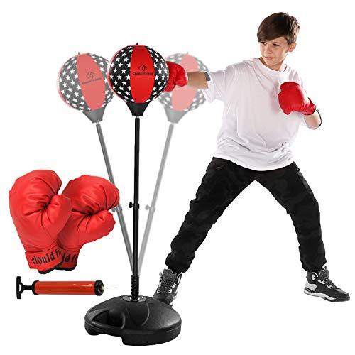 Clould fitness Punching Bag with Stand for Kids- Excellent Boxing Gloves, Perfect and Portable Design, Great Gift for…