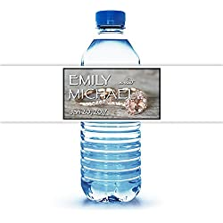 "100 Customized Wedding Themed Water Bottle Labels Engagement Ring Theme 8""X2"""