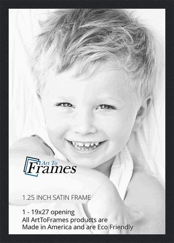 Amazon.com - ArtToFrames 19x27 inch Satin Black Picture Frame ...