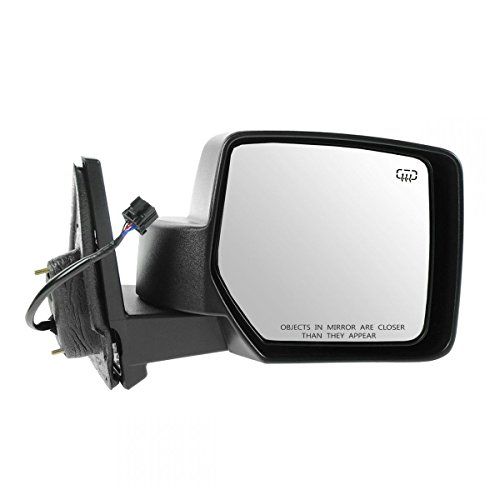 Side View Mirror Power Heated Black Textured Passenger RH for 07-15 Jeep Patriot