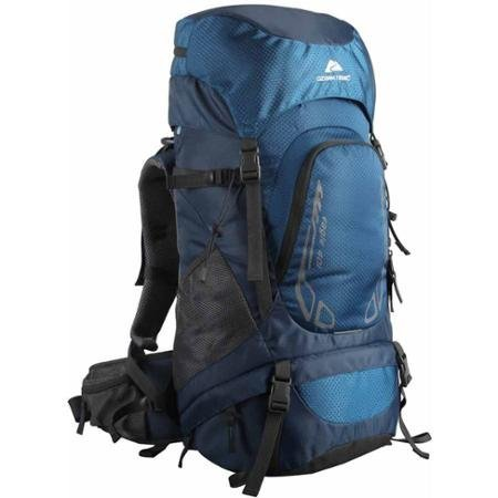 Ozark Trail Hiking Backpack Eagle, 40L, Blue, Hydration Compatible, Durable Poly Fabric Material, Ideal for Heavy Loads for Camping, Hiking, Travel and Other Outdoor Activities, TB2138-40L