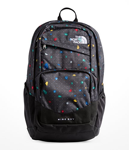 The North Face Wise Guy - TNF Black Climbfetti Print & TNF Black - (North Face School Backpacks)