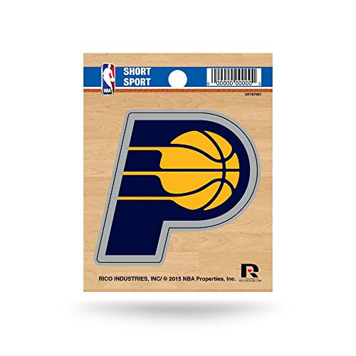Indiana Pacers Nba Car - Rico Industries NBA Indiana Pacers Die Cut Team Logo Short Sport Sticker