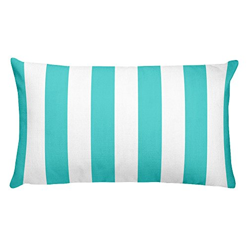 Marked For You, Decorative Throw Pillow, Rectangular Accent Pillow, Print shown on both sides, Blue, Stripe, 20 x 12 inch