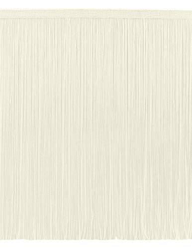 DecoPro 11 Yard Value Pack of 12 Inch Chainette Fringe Trim, Style# CF12 Color: Ivory (Off White) - OW (32.5 Feet / 10M) ()