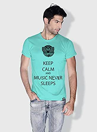 Creo Keep Calm Trendy T-Shirts For Men - S, Green