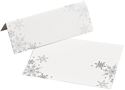 Fun Express Snowflake Place Cards - 24 Pieces (Card Snowflake)