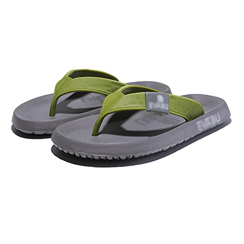 HUO Hausschuhe Männer Sandalen Sommer Outdoor-Gummi Anti-Rutsch-Hausschuhe Strand Schuhe Schwarz Blau Grau Kühle atmungsaktiv ( Farbe : Schwarz , größe : EU43/UK9/CN44 ) Grau