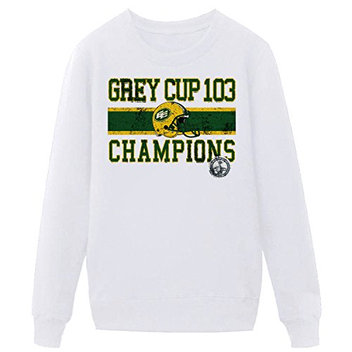 Champ Jersey Sweatshirt - XIXU Edmonton Eskimos West CFL Cup Grey 103 Champs Team Mens Sweatshirt white L