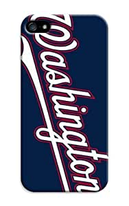 LarryToliver Cellphone Accessories iphone 5/5s Case with Customizable Baseball Washington Nationals Background