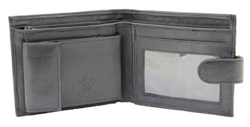Wallets King - Portefeuille en cuir vritable noir pour homme