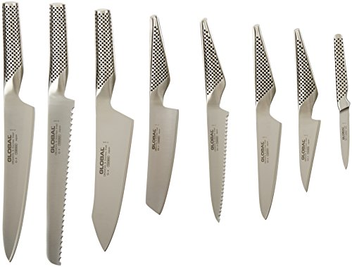 Global G-888/91ST - 9 Piece Knife Set with Block