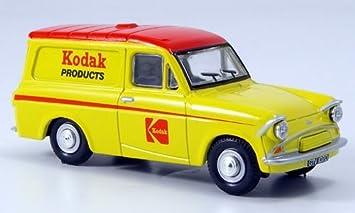 Ford Anglia Van, amarillo/rojo, Kodak, vagón caja, Modelo de Auto