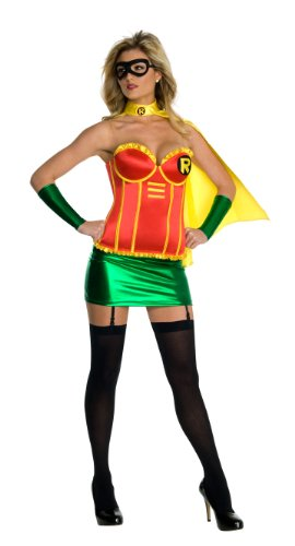 Dc Comics Secret Wishes Batgirl Corset Costumes (Sexy Robin Corset Costume - Medium)
