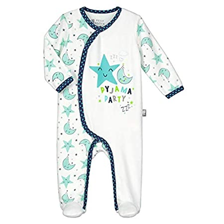 Pyjama bébé velours écru Pyjama Party - Taille - 3 mois (62 cm) Petit Béguin