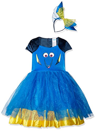 Disguise Dory Toddler Tutu Deluxe Finding Dory Disney/Pixar Costume, Large/4-6X