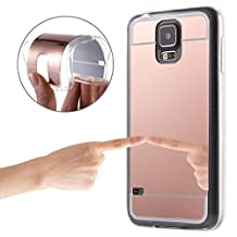 Samsung Case Cover Electroplating Mirror TPU Protective soft case rubber silicone skin cover case for Samsung Galaxy S5 / G900 ( Color : Rose Gold )