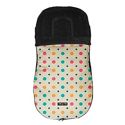 Tris&Ton Saco silla de paseo universal para bebe modelo Topitos Beige, Saco funda cochecito con
