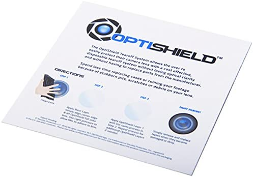 Optishield Action Camera Tear-Off Lens Defenders for Race Keeper Camera Series