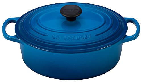 Le Creuset Enameled Cast Iron Signature Oval Dutch French Oven, 2 3/4 quart, Marseille