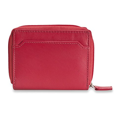 Red Ladies 220 Black Efficient and Blocking Practical Brunhide Leather 300 RFID Purse PnWxSg7