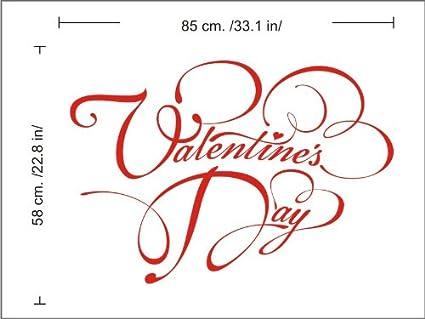 Amazon Com N1196 St Valentine Day Vinyl Sticker Tattoo Wall