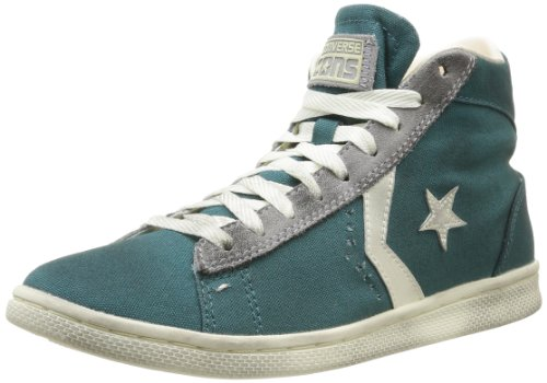 Converse Pro Leather LP MID Canvas, Sneaker unisex - adulto Amarna Green/Charcoal