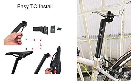 CYSKY 27.2 Bike Seat Post 350mm Alumium Adjustable Seatpost for Most Bicycle Mountain Bike Road Bike MTB MTN BMX Black