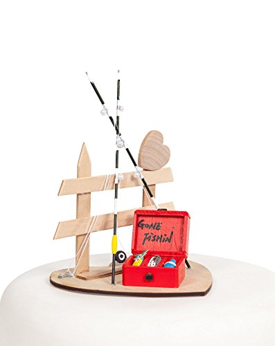Gone Fishin' Fishing Wedding Cake Topper ()