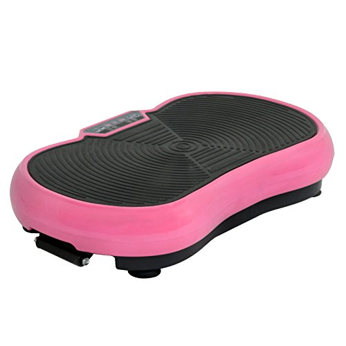 SUPER DEAL Crazy Work Out Fit Full Body Vibration Platform Massage Machine Fitness W/Bluetooth, Pink by SUPER DEAL (Image #1)