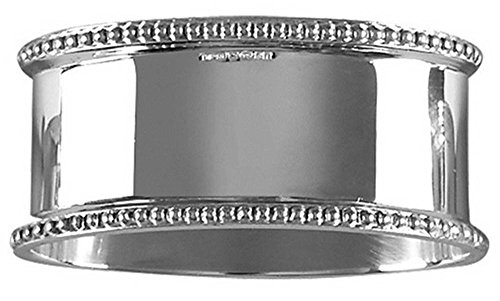 Silver Detailed Oval Napkin Ring by Orton West by Orton West