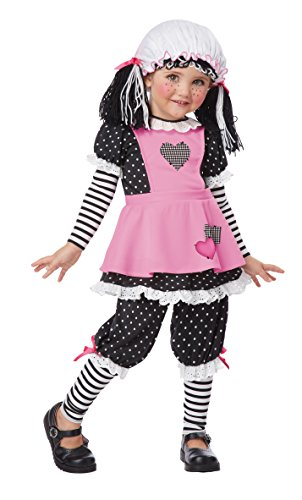 California Costumes Rag Dolly Toddler Costume, 3-4