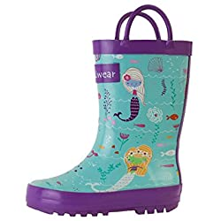 Oakiwear Kids Rubber Rain Boots (11 US Little Kid, Mermaids)