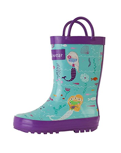 Kids Rubber Rain Boots, Mermaids