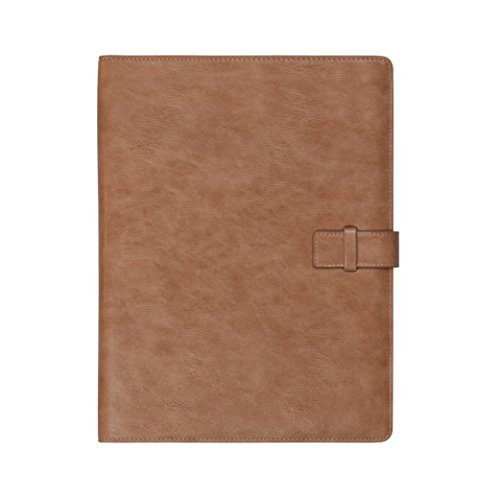 Forevermore Portfolio Padfolio Professional Interview Resume Folder Document Organizer with Refillable Letter Size Writing Pad Business Gift (Nude)